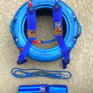 Yancy Camp Tire Trainer – Shoulder Harness, Waist Belt, and Tire Ruck Set-Up Tire Drag System (shown with tire)
