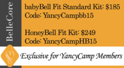 Yancy Camp Partner BelleCore | Discount for YC members: babyBell Fit Standard Kit: $185, Code: YancyCampbb15 - HoneyBell Fit Kit: $249, Code: YancyCampHB15