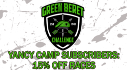 Yancy Camp Partner Green Beret Challenge 15% OFF RACES for Yancy Camp Subscribers