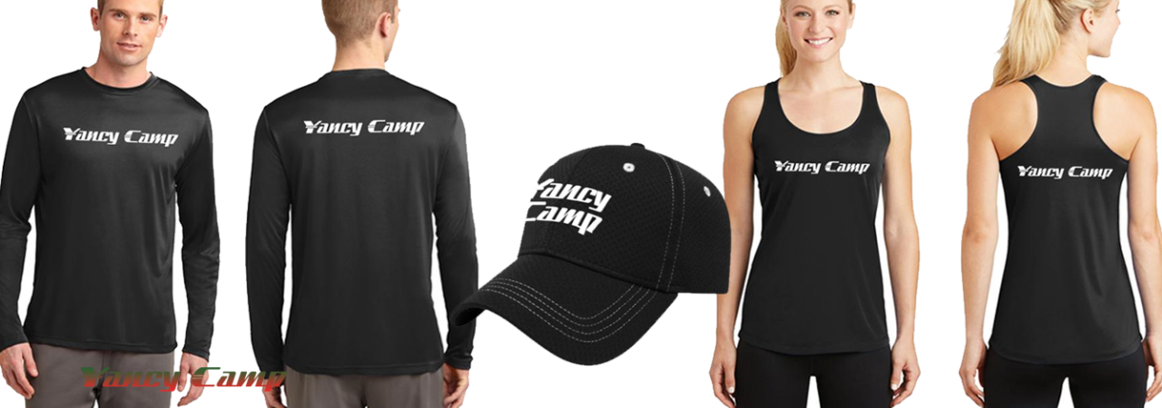 Yancy Camp Branded Apparel Now Available for Purchase