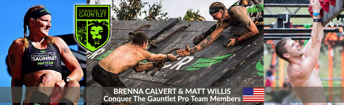 Yancy Camp Premier OCR Athlete Program with Conquer the Gauntlet Pro Team Members Brenna Calvert & Matt Willis